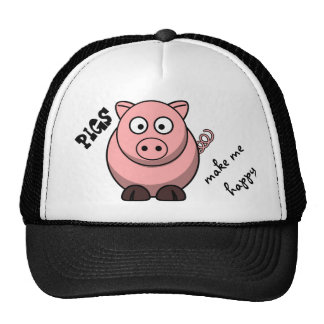 Los cerdos me hacen feliz gorras de camionero