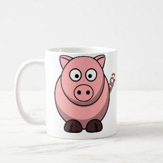 Los cerdos me hacen feliz taza básica blanca