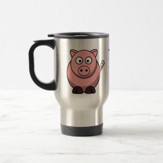 Los cerdos me hacen feliz taza de viaje de acero inoxidable