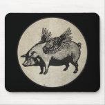 Los cerdos pudieron volar alfombrillas de raton