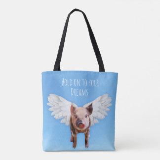 Los cerdos pudieron volar bolsa de tela