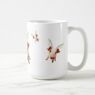 Los cerdos que vuelan - crea tazas de café