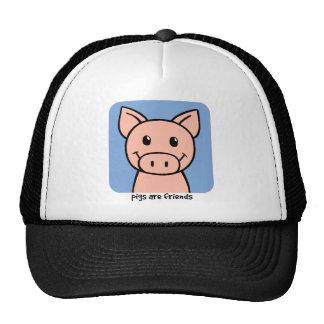 Los cerdos son amigos gorro de camionero