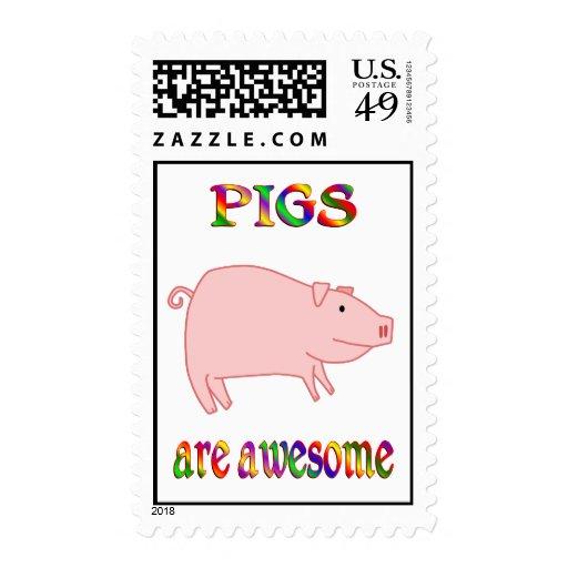 Los cerdos son impresionantes estampillas