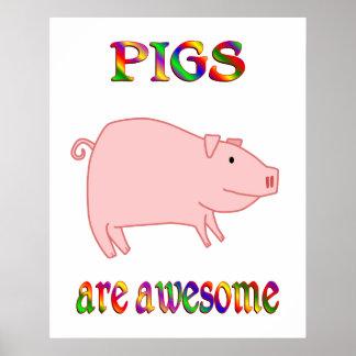 Los cerdos son impresionantes posters