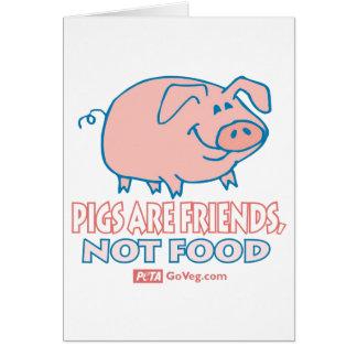 Los cerdos son tarjeta de los amigos