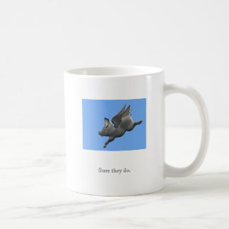 Los cerdos tienen taza de las alas