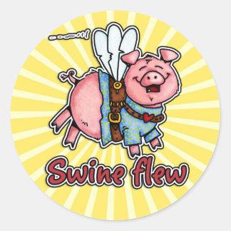 los cerdos volaron al pegatina
