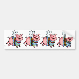 los cerdos volaron al pegatina del libro de recuer pegatina para auto