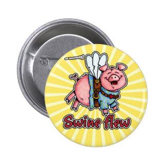 los cerdos volaron el botón pins