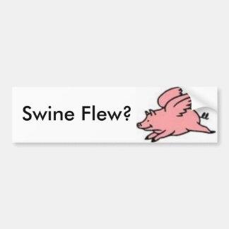 ¿Los cerdos volaron? Pegatina Para Auto
