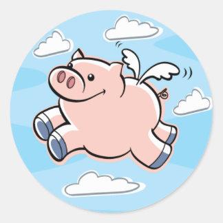 Los cerdos vuelan al pegatina