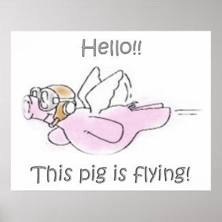 Los cerdos vuelan el poster