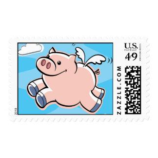 Los cerdos vuelan franqueo estampilla