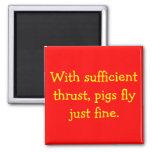 Los cerdos vuelan imán de frigorífico