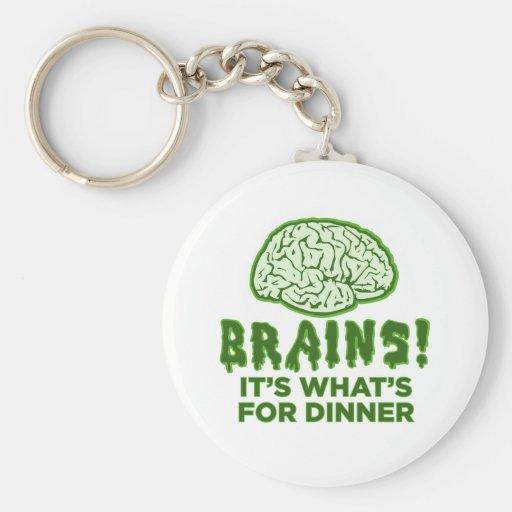 Los cerebros, es cuál está para la cena llaveros