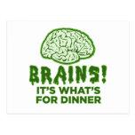 Los cerebros, es cuál está para la cena postal