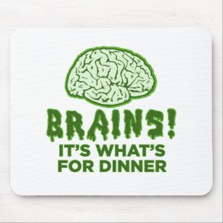 Los cerebros, es cuál está para la cena tapete de raton