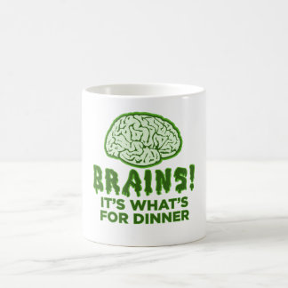 Los cerebros, es cuál está para la cena taza básica blanca