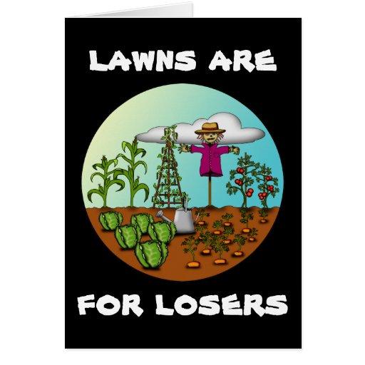 Los céspedes están para los perdedores, tarjeta de