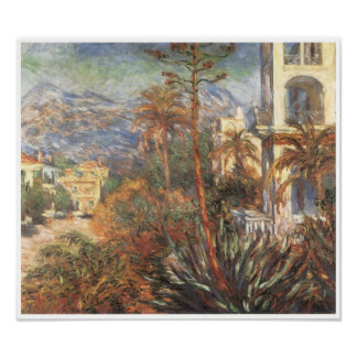 Los chalets en Bordighera, 1884 Posters