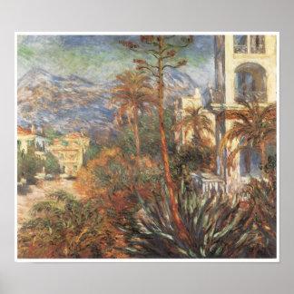 Los chalets en Bordighera, 1884 Póster