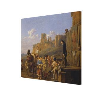 Los charlatanes italianos, 1657 impresión en lienzo