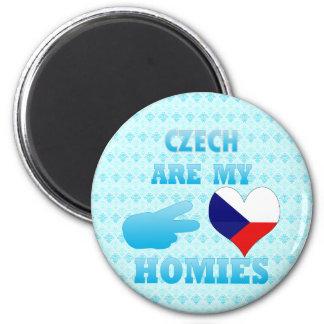 Los checos son mi Homies Imán Redondo 5 Cm