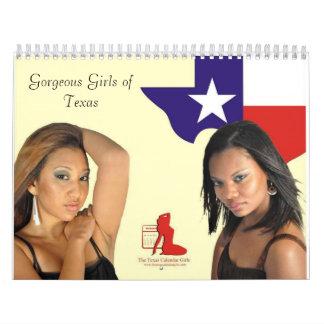 Los chicas 2010 del calendario de Tejas 12 meses