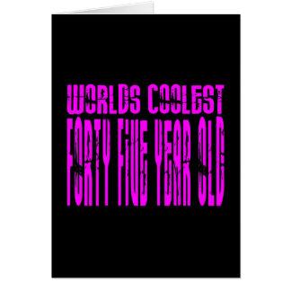 Los chicas 45 cumpleaños pican los mundos los cuar tarjeta de felicitación