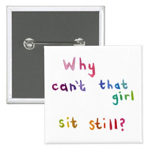 Los chicas activos no pueden todavía sentar arte o pins