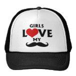 Los chicas aman mi bigote gorra