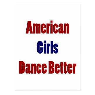 Los chicas americanos bailan mejor postal