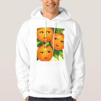 Los chicas anaranjados de los naranjas del vintage jersey encapuchado