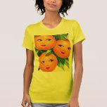 Los chicas anaranjados de los naranjas del vintage camisetas