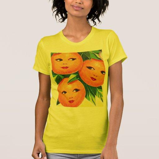 Los chicas anaranjados de los naranjas del vintage t shirts
