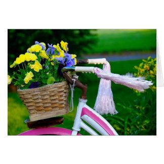 Los chicas apenas quieren divertirse, bicicleta tarjeta de felicitación