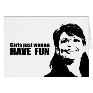 Los chicas apenas quieren divertirse felicitacion
