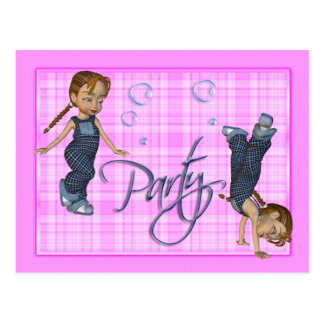 Los chicas apenas quieren divertirse, fiesta postal