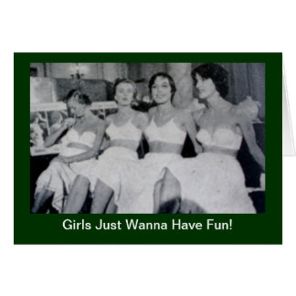 Los chicas apenas quieren divertirse - invitación tarjeta