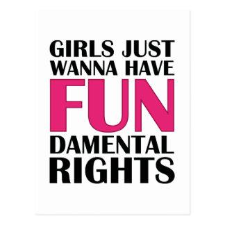 Los chicas apenas quieren divertirse postal