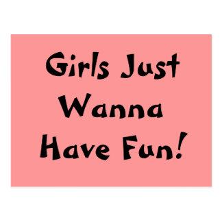 ¡Los chicas apenas quieren divertirse Postal