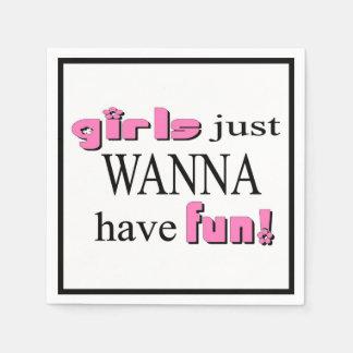 Los chicas apenas quieren divertirse servilletas desechables