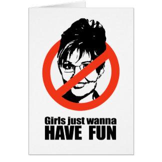 Los chicas apenas quieren divertirse tarjeta