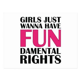 Los chicas apenas quieren divertirse tarjeta postal