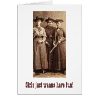 Los chicas apenas quieren divertirse tarjeton