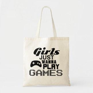 Los chicas apenas quieren jugar a juegos bolsa tela barata