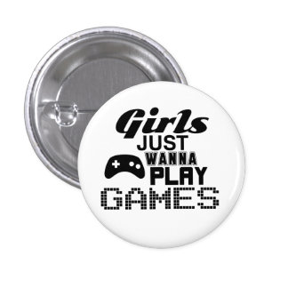 Los chicas apenas quieren jugar a juegos pin redondo de 1 pulgada
