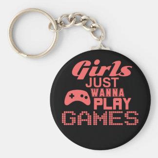 Los chicas apenas quieren jugar a los juegos (el llavero redondo tipo pin