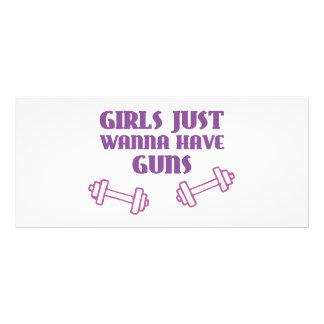 Los chicas apenas quieren tener armas plantilla de lona